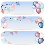 Illustration de bannière de ballon Images libres de droits