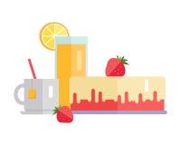 Illustration de bannière de Web de concept de dessert Images libres de droits