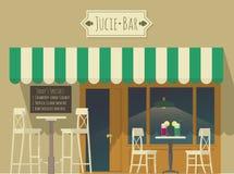 Illustration de bar à jus Images libres de droits