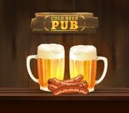 Illustration de bar de bière illustration libre de droits