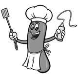 Illustration de barbecue de hot-dog Illustration Stock