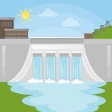 Illustration de barrage d'hydroélectricité illustration libre de droits
