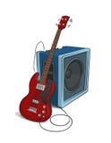 Illustration de basse et d'amplificateur Image libre de droits