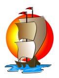 Illustration de bateau illustration stock