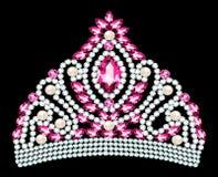 Illustration de beau diadème, couronne, femelle de diadème avec la perle illustration de vecteur