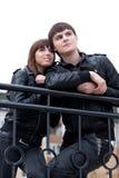 Illustration de beaux couples à l'extérieur Photos libres de droits