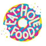 Illustration de beignet Mangez de la nourriture de trou illustration stock