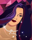 Illustration de belle femme Photographie stock