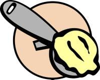 Illustration de bille d'épuisette de crême glacée de vecteur Photos libres de droits