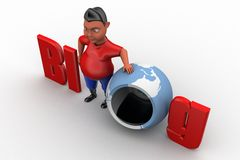 illustration de blog de l'homme 3d Image stock