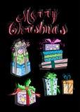Illustration de boîte-cadeau de Noël illustration de vecteur