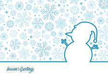 Illustration de bonhomme de neige de vecteur Image stock