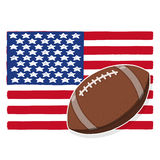 Illustration de boule du football des Etats-Unis Photographie stock libre de droits
