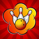 Illustration de bowling d'art de bruit de vecteur Photos stock