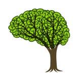 Illustration de Brain Tree Connectivity Logo Design Image libre de droits