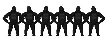 Illustration de bras de Gorilla Strong Teamwork Arm In Image libre de droits