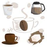 Illustration de brun de tasse de café de café Illustration de Vecteur