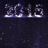 Illustration de célébration de nouvelle année Image stock