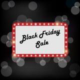 Illustration de cadre brillant en vente noire de vendredi Photos libres de droits