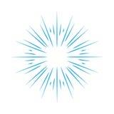 Illustration de cadre de rayon de soleil Photos stock