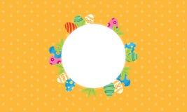 Illustration de cadre de thème de Pâques Image libre de droits