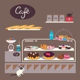 Illustration de café Image stock