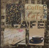 Illustration de café Photos stock