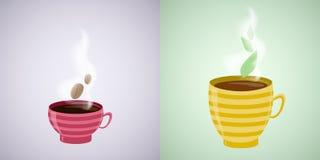 Illustration de café et de thé Image libre de droits