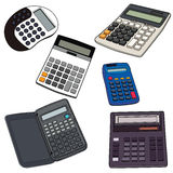Illustration de calculatrice électronique Images libres de droits