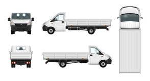 Illustration de camion pick-up Calibre de voiture de cargaison de la livraison dessus Photos libres de droits