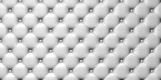 Illustration de capitonnage de cuir blanc Image libre de droits