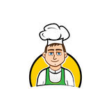Illustration de caractère de chef Photo stock