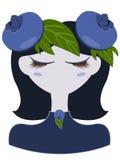 Illustration de caractère de myrtille Photos stock