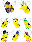 Illustration de caractères d'abeille Image stock