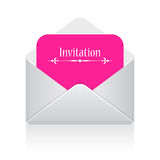 Illustration de carte d'invitation Photo libre de droits