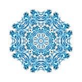 Illustration de carte d'ornement avec le mandala Cercle géométrique illustration stock