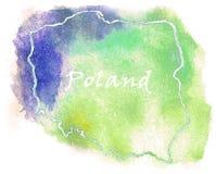 Illustration de carte de vecteur de la Pologne Photos libres de droits