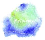 Illustration de carte de vecteur du Belarus Photographie stock libre de droits