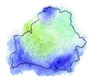 Illustration de carte de vecteur du Belarus Image stock