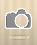 Illustration de carte postale d'appareil-photo de photo Photo stock