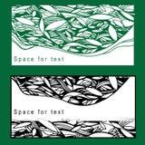 Illustration de carte postale d'ensemble avec le feuillage pour Photos stock