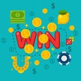 Illustration de casino dans le style plat Images libres de droits
