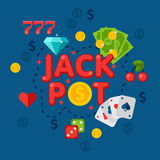 Illustration de casino dans le style plat Photo libre de droits
