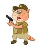 Illustration de Cat Special Forces Cartoon Character mignonne Image stock