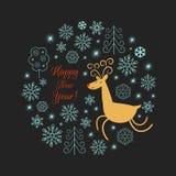 Illustration de cerfs communs de Noël Photo libre de droits