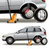 Réparations de pneu Images libres de droits