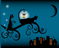 Illustration de chat Images libres de droits