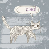 Chat de bordage illustration de vecteur