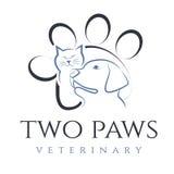 Illustration de chat et de chien, pour la clinique vétérinaire Photographie stock