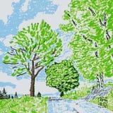 Illustration de chemin forestier illustration de vecteur